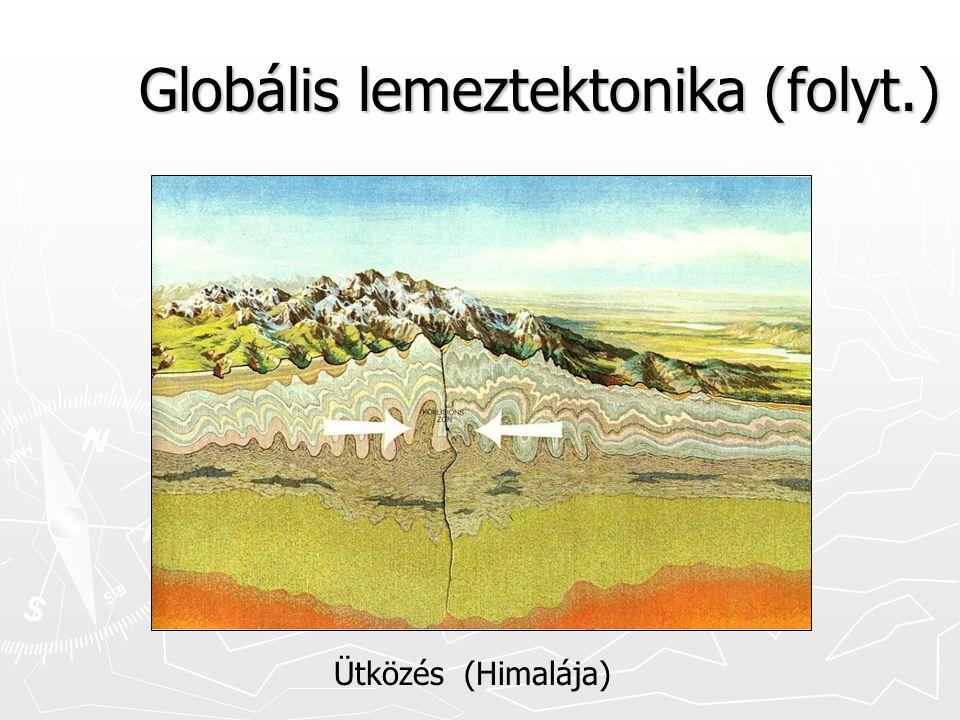 Globális lemeztektonika (folyt.) Ütközés (Himalája)