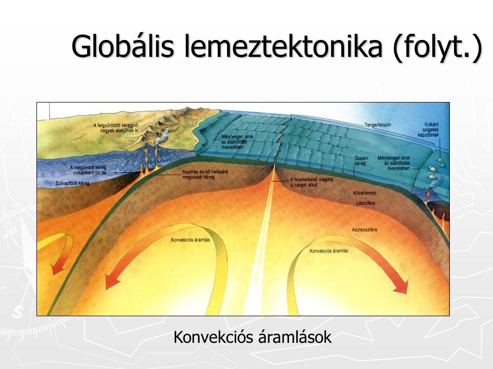 Globális lemeztektonika (folyt.) Konvekciós áramlások