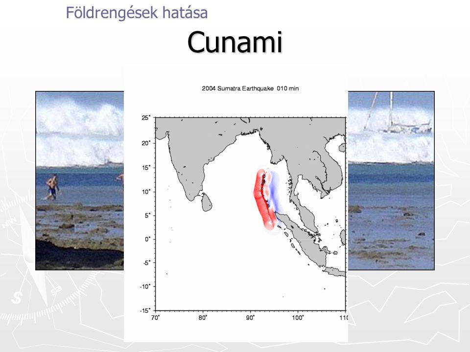 Cunami Földrengések hatása