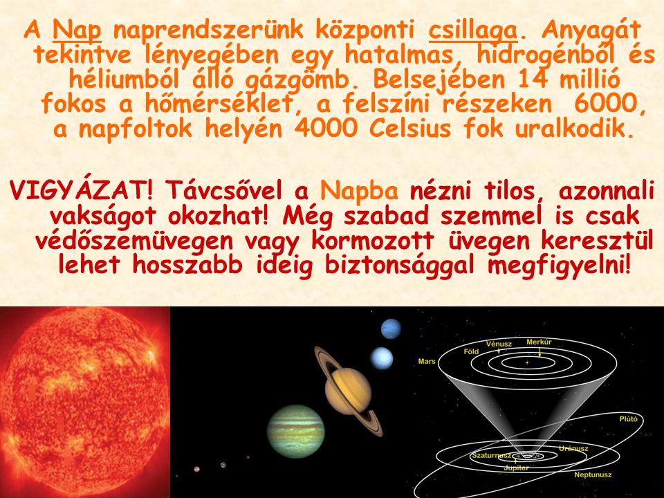 A Nap naprendszerünk központi csillaga. Anyagát tekintve lényegében egy hatalmas, hidrogénből és héliumból álló gázgömb. Belsejében 14 millió fokos a
