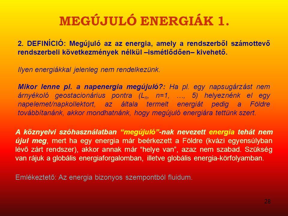 MEGÚJULÓ ENERGIÁK 1.2.