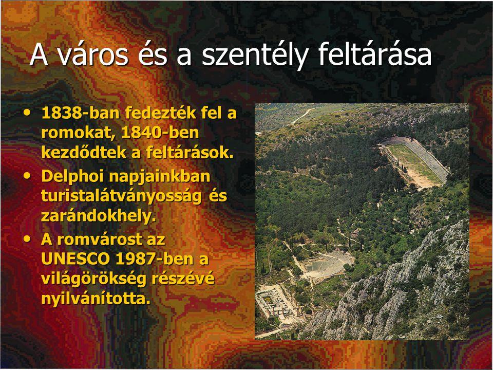 A város és a szentély feltárása 1838-ban fedezték fel a romokat, 1840-ben kezdődtek a feltárások. 1838-ban fedezték fel a romokat, 1840-ben kezdődtek