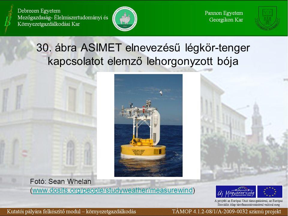 30. ábra ASIMET elnevezésű légkör-tenger kapcsolatot elemző lehorgonyzott bója Fotó: Sean Whelan (www.dosits.org/people/studyweather/measurewind)www.d