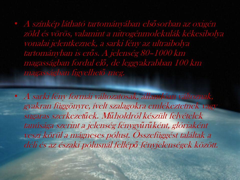 Er ő s naptevékenységet követ ő en, mágneses viharok idején megváltozik a magnetoszféra szerkezete, ilyenkor a sarki fény alacsonyabb szélességi körökön, így nagyon ritkán Magyarországon is megfigyelhet ő.