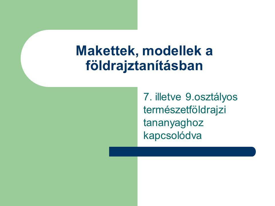 Makettek, modellek a földrajztanításban 7.