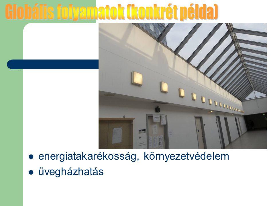 energiatakarékosság, környezetvédelem üvegházhatás