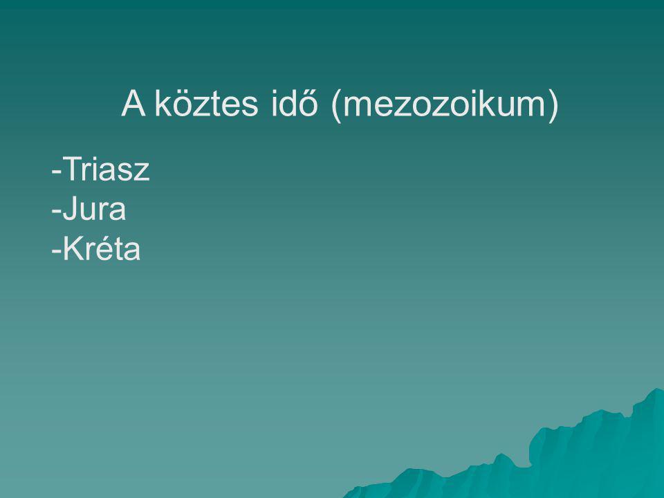 A köztes idő (mezozoikum) -Triasz -Jura -Kréta