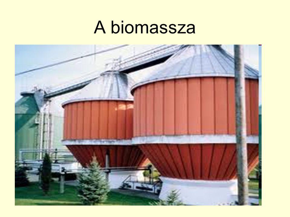 A biomassza A biomassza sokféle természetes eredetű hulladékanyag összefoglaló neve. Szárazföldi és vízi növények anyagából, Állatok hulladékából, elh