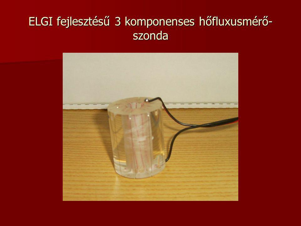ELGI fejlesztésű 3 komponenses hőfluxusmérő- szonda