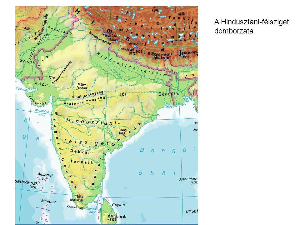 A csapadékeloszlás alakulása a Hindusztáni-fsz-en