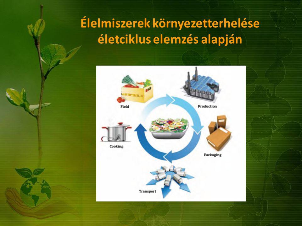 Élelmiszerek környezetterhelése életciklus elemzés alapján …