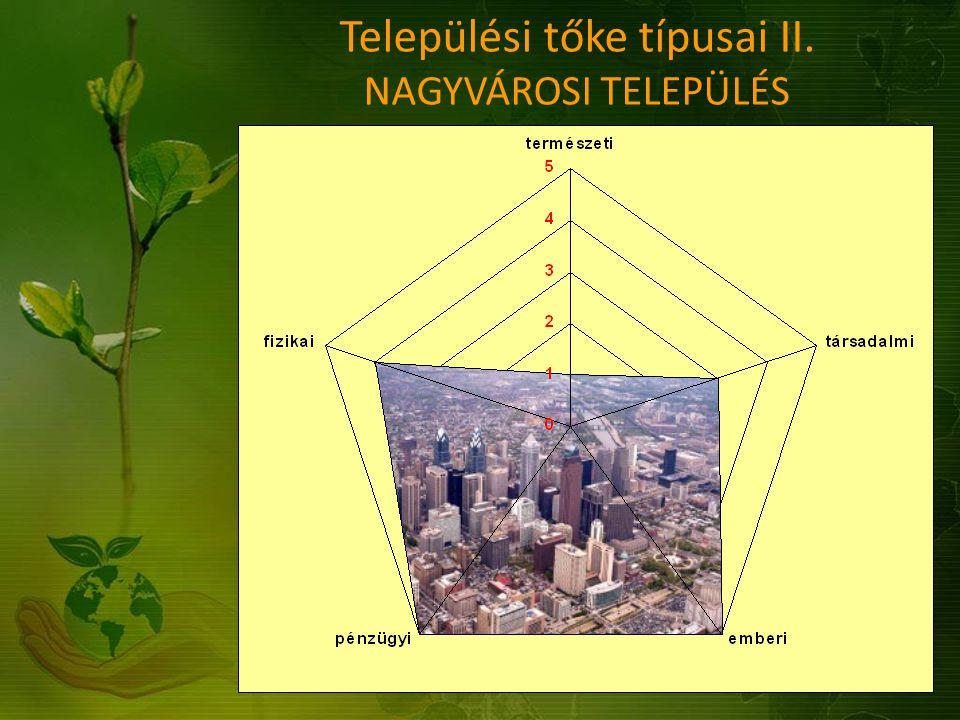 Települési tőke típusai II. NAGYVÁROSI TELEPÜLÉS