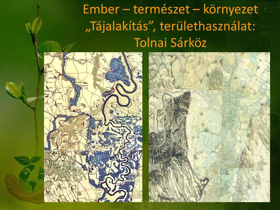 """Ember – természet – környezet """"Tájalakítás"""", területhasználat: Tolnai Sárköz"""