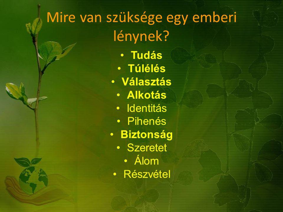 Magyarország ökológiai lábnyoma (forrás: WWF) Összesített ökológiai lábnyom (globális hektár/fő): 3,5 Összesített energia lábnyom (globális hektár/fő): 2,0 CO 2 (globális hektár/fő): 1,67 Beépített terület (globális hektár/fő): 0,17 Összes biokapacitás (globális hektár/fő): 2,4 Ökológiai deficit (globális hektár/fő): 1,1 Ökológiai lábnyom százalékos változása (1991-2001): -10% Biokapacitás százalékos változása (1991-2001): -18% Fejlődés index: 0,84