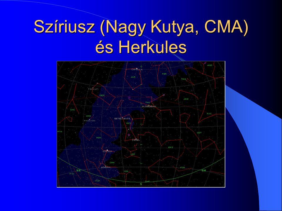 Szíriusz (Nagy Kutya, CMA) és Herkules