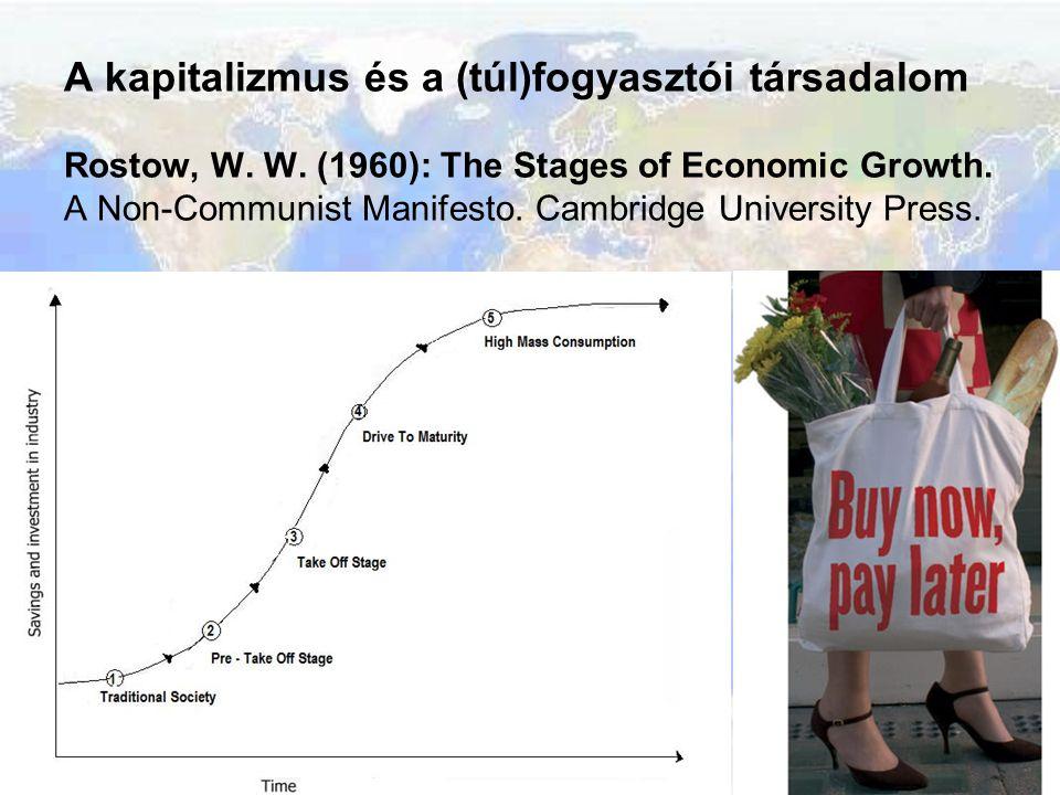 A kapitalizmus és a (túl)fogyasztói társadalom Rostow, W. W. (1960): The Stages of Economic Growth. A Non-Communist Manifesto. Cambridge University Pr