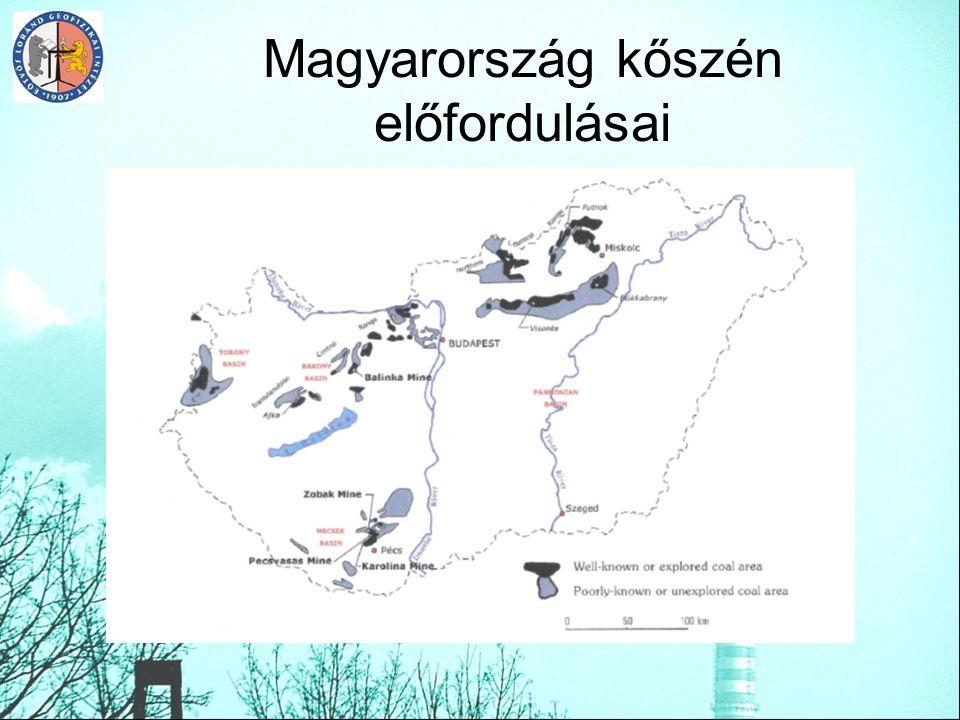 Magyarország kőszén előfordulásai