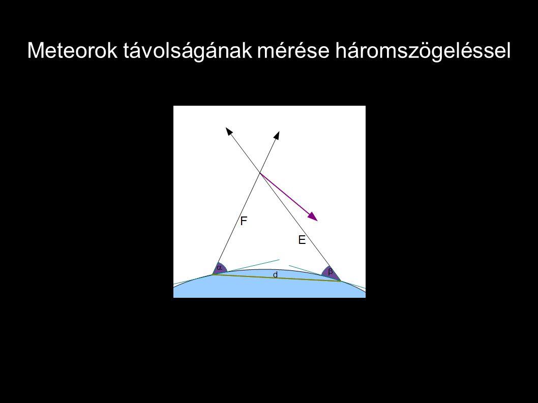Meteorok távolságának mérése háromszögeléssel