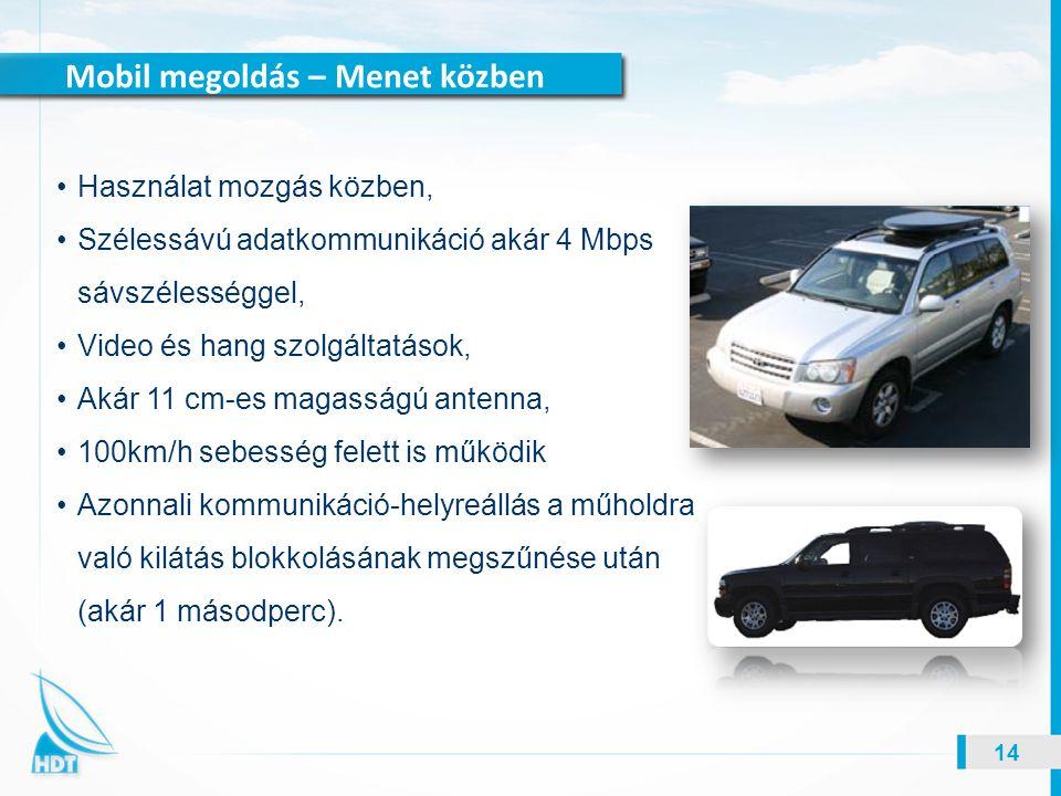 Mobil megoldás – Menet közben 14 Használat mozgás közben, Szélessávú adatkommunikáció akár 4 Mbps sávszélességgel, Video és hang szolgáltatások, Akár