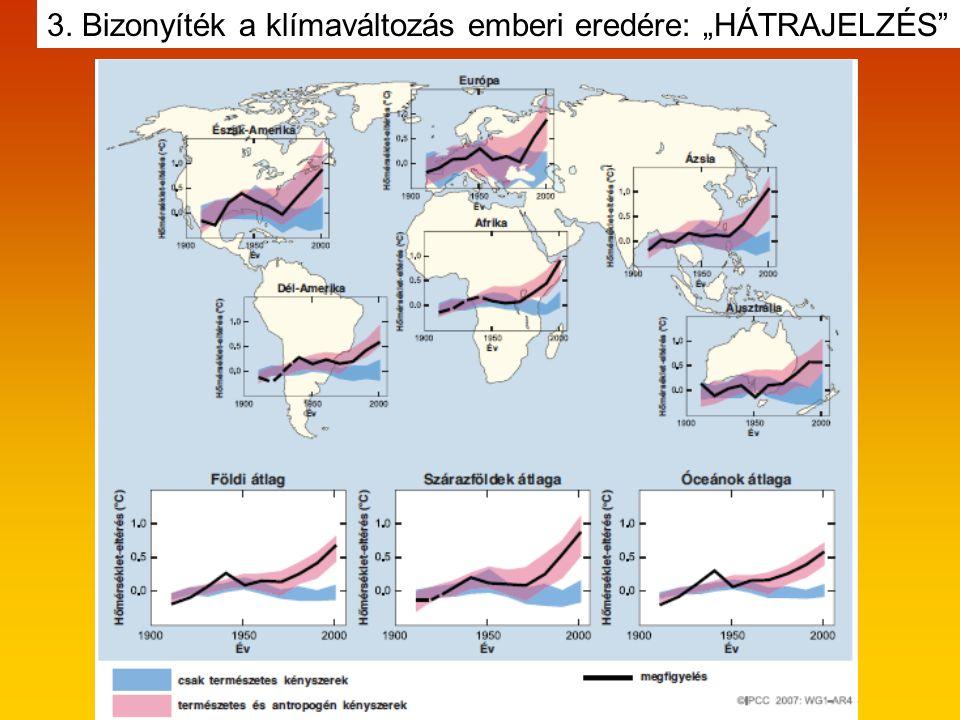 """3. Bizonyíték a klímaváltozás emberi eredére: """"HÁTRAJELZÉS"""