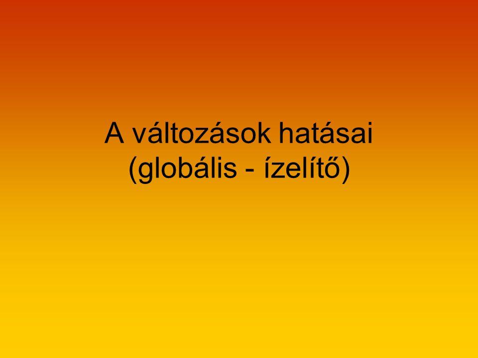 A változások hatásai (globális - ízelítő)