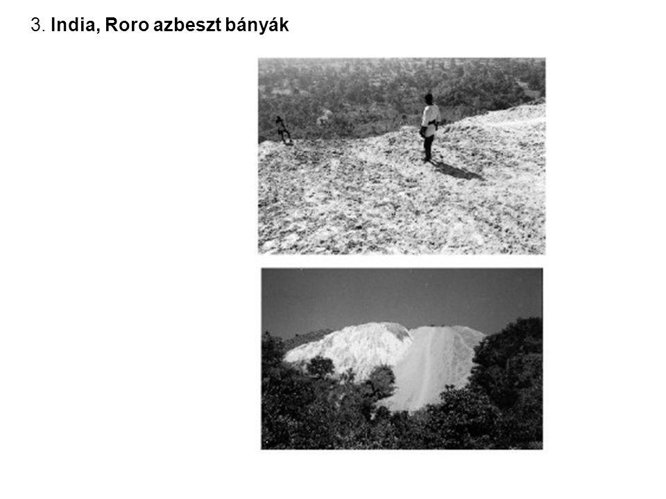 3. India, Roro azbeszt bányák
