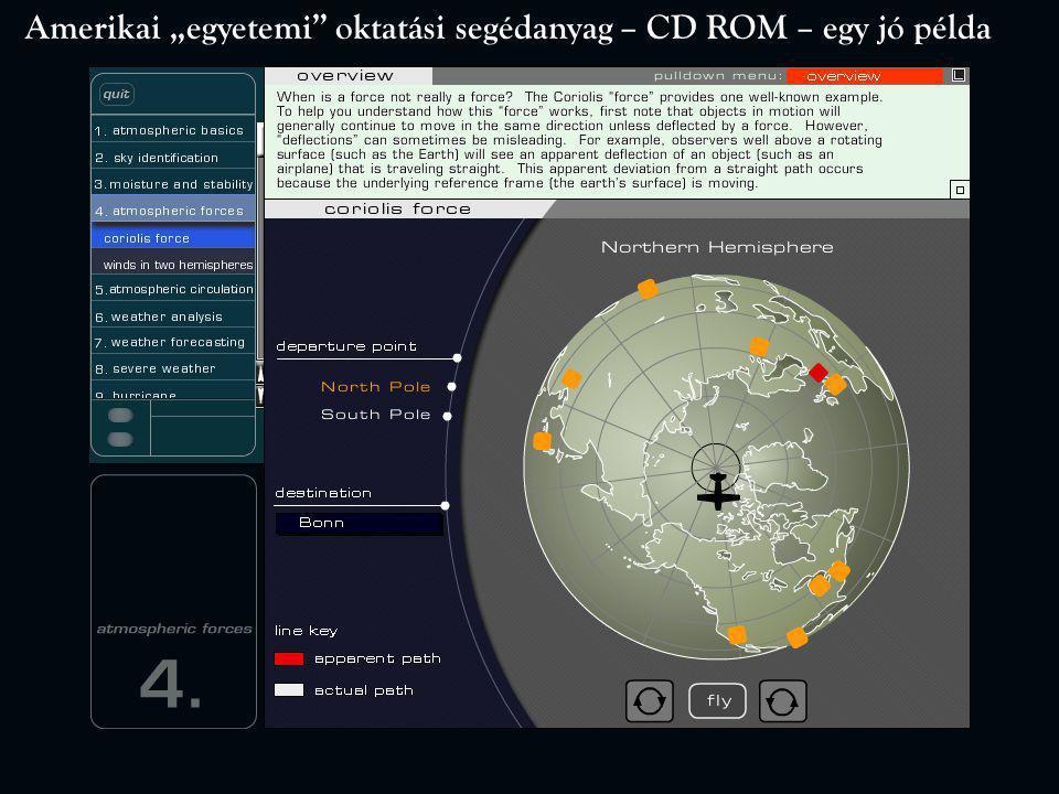 """Amerikai """"egyetemi oktatási segédanyag – CD ROM – egy jó példa"""