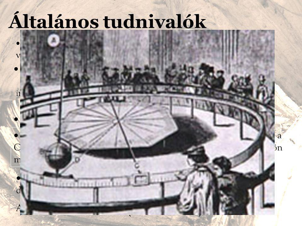 Általános tudnivalók Gaspard Gustave de Coriolis, (1792-1843)  Az er ő minden forgó rendszerben hat az ott v sebességgel mozgó testekre.  nagysága: