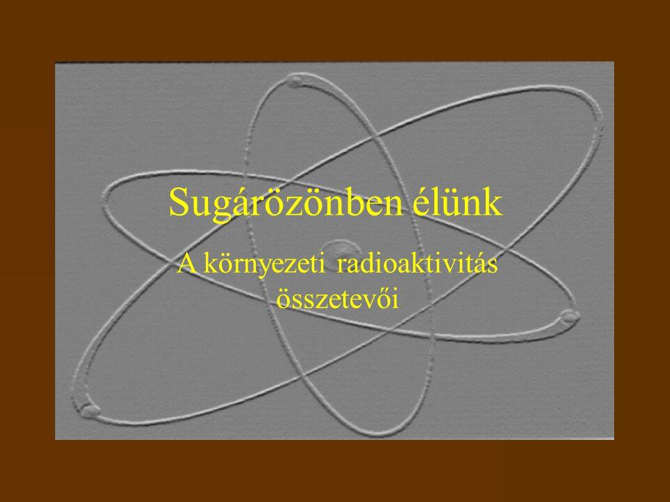 Sugárözönben élünk A környezeti radioaktivitás összetevői