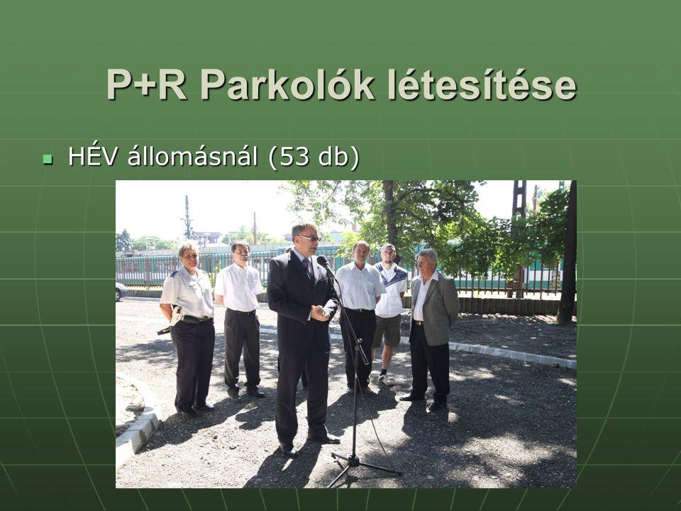 P+R Parkolók létesítése HÉV állomásnál (53 db) HÉV állomásnál (53 db)