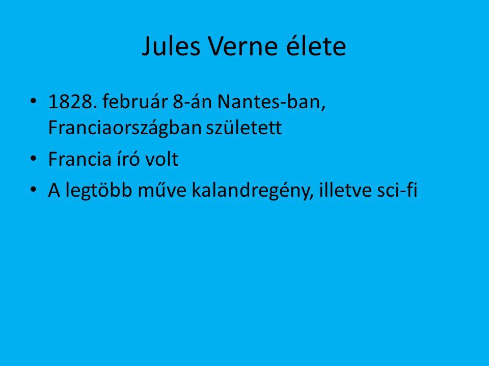 Családfa Édesapja: Pierre Verne (ügyvéd) 5-en voltak testvérek Jules született elsőnek Paul Verne: 1829-1897 Anna Verne: 1837-1919 Mathilde Verne: 1839-1920 Marie Verne: 1842-1913
