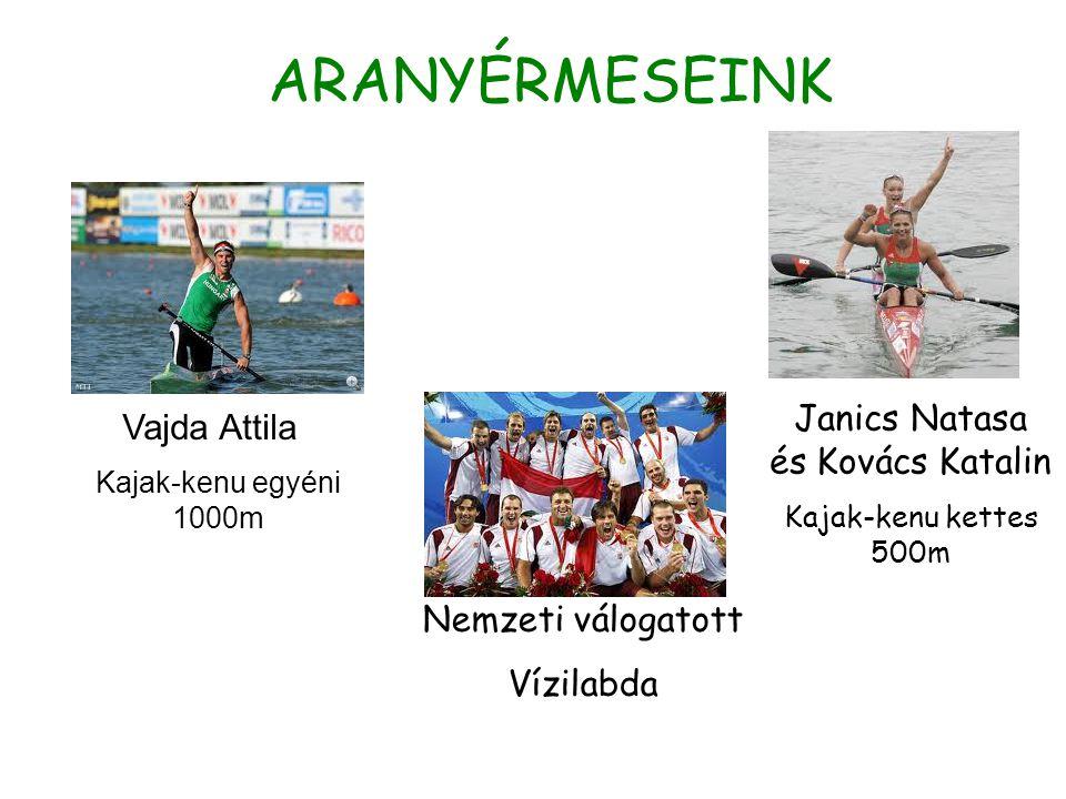 ARANYÉRMESEINK Vajda Attila Kajak-kenu egyéni 1000m Janics Natasa és Kovács Katalin Kajak-kenu kettes 500m Nemzeti válogatott Vízilabda