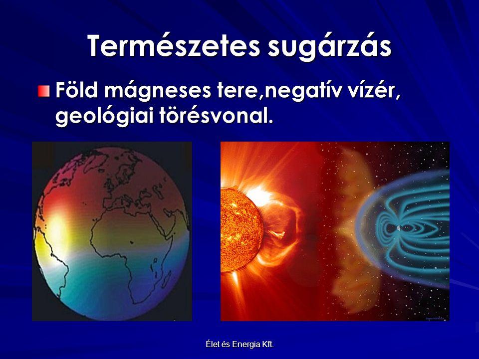 Természetes sugárzás Föld mágneses tere,negatív vízér, geológiai törésvonal. Élet és Energia Kft.