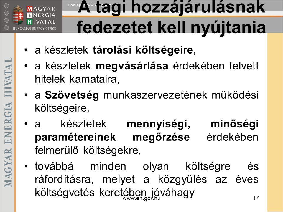 www.eh.gov.hu18 A Szövetség szervei, testületei A Szövetség szervei: a közgyűlés, az igazgatótanács, a felügyelő bizottság, az igazgatóság.