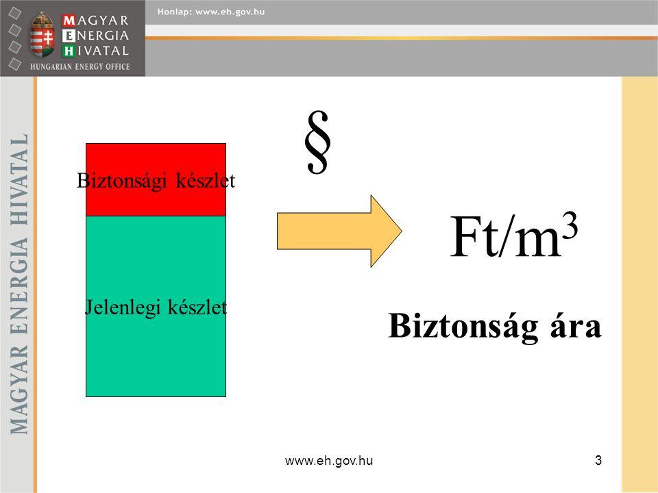 www.eh.gov.hu4 földgáz biztonsági készlet létrehozása A földgáz biztonsági készletet működésre engedélyezett, műszakilag ellenőrzött, a biztonságtechnikai és környezetvédelmi jogszabályok előírásainak megfelelő, a Magyar Köztársaság területén lévő amely alkalmas arra, hogy a készletezett földgáz mennyiségét megőrizze és a felszíni gázelőkészítést követően a szállítóvezetékre való betáplálásra alkalmas minőségben biztosítsa.