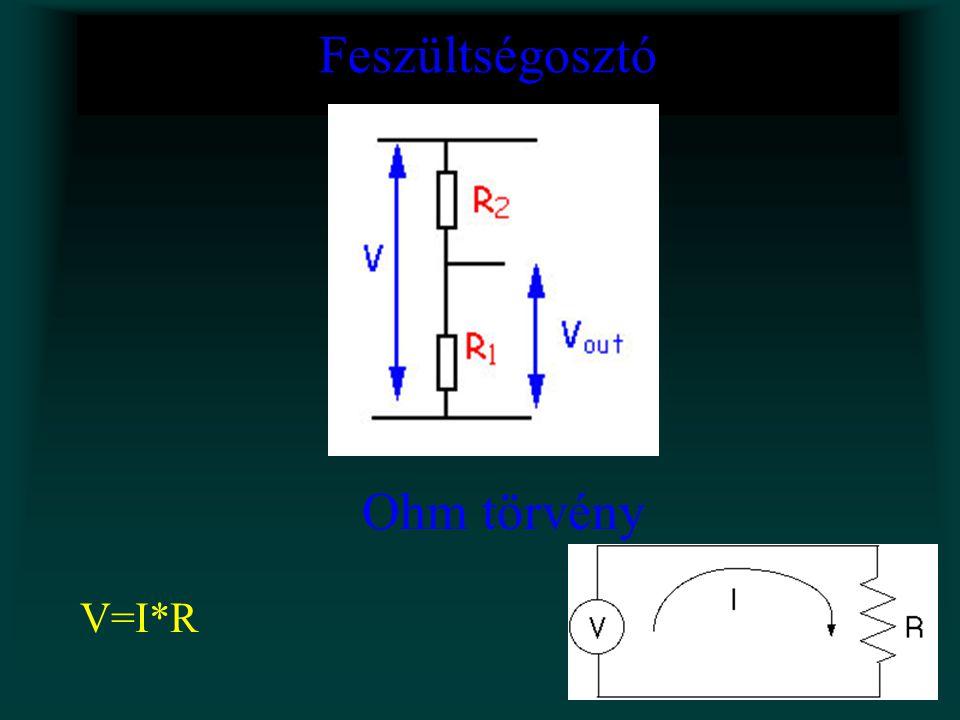 Feszültségosztó Ohm törvény V=I*R