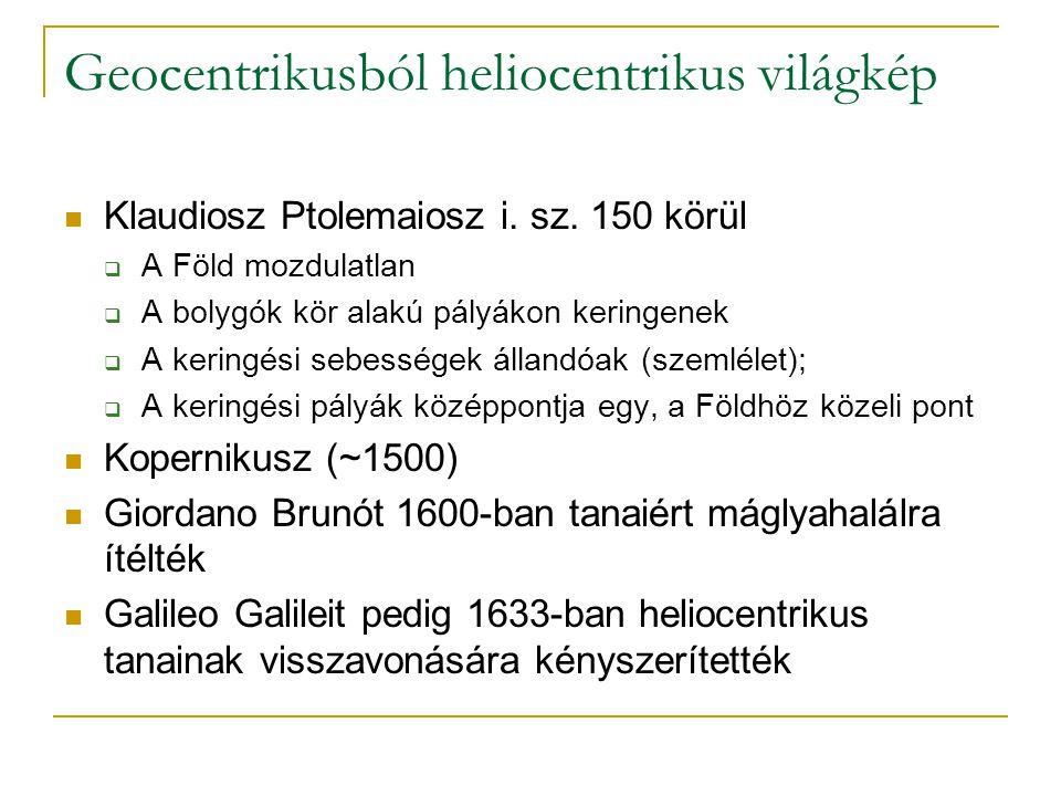 Geocentrikusból heliocentrikus világkép Klaudiosz Ptolemaiosz i.