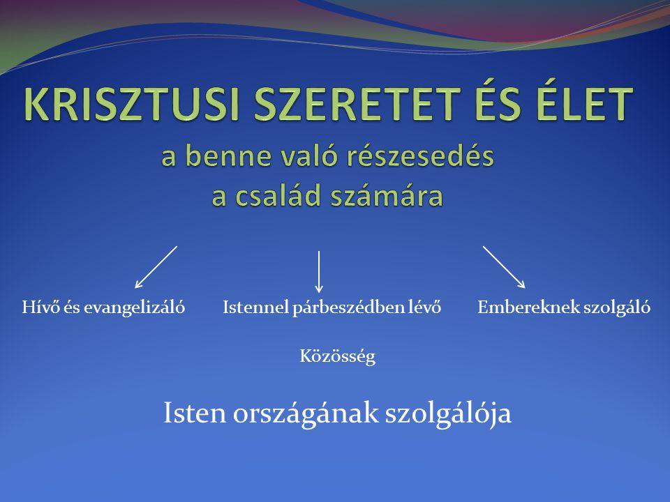  Keresi - Isten országát (Mt.6,33)  Építi - Isten országát  MegJELeníti - Isten országát