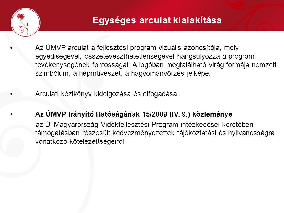 Az ÚMVP arculat a fejlesztési program vizuális azonosítója, mely egyediségével, összetéveszthetetlenségével hangsúlyozza a program tevékenységének fon