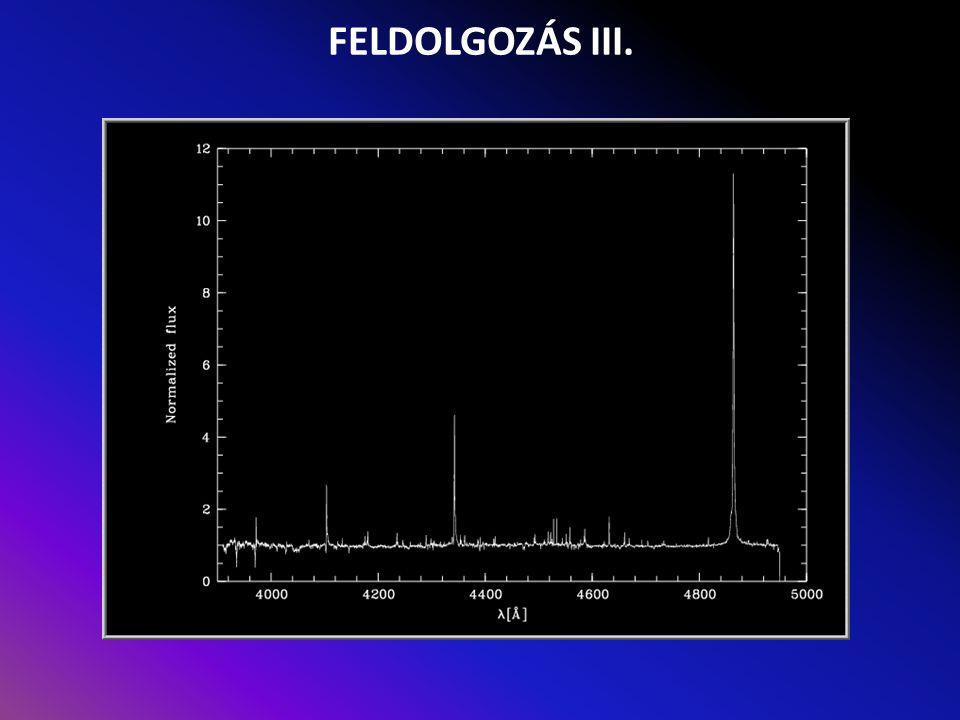 FELDOLGOZÁS III.