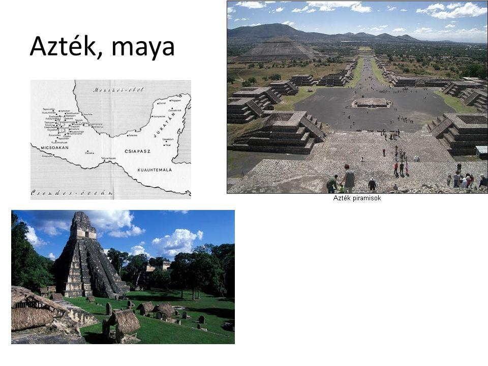 Azték, maya