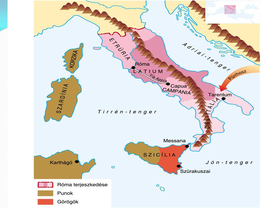 A terjeszkedés kezdetei védekező háborúk Kr.e. VII-IV. század etruszk hódítás gall támadás hódítás kezdetei – oka a földhiány Itália meghódítása – age