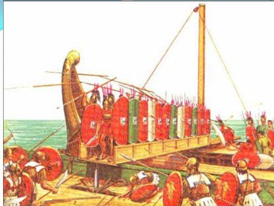 A pun háborúk 1. háború – Kr.e. 264-241. – kiegyenlített küzdelem tengeren Karthago, szárazföldön Róma erősebb fordulat – csapóhíd 2. pun háború – Kr.