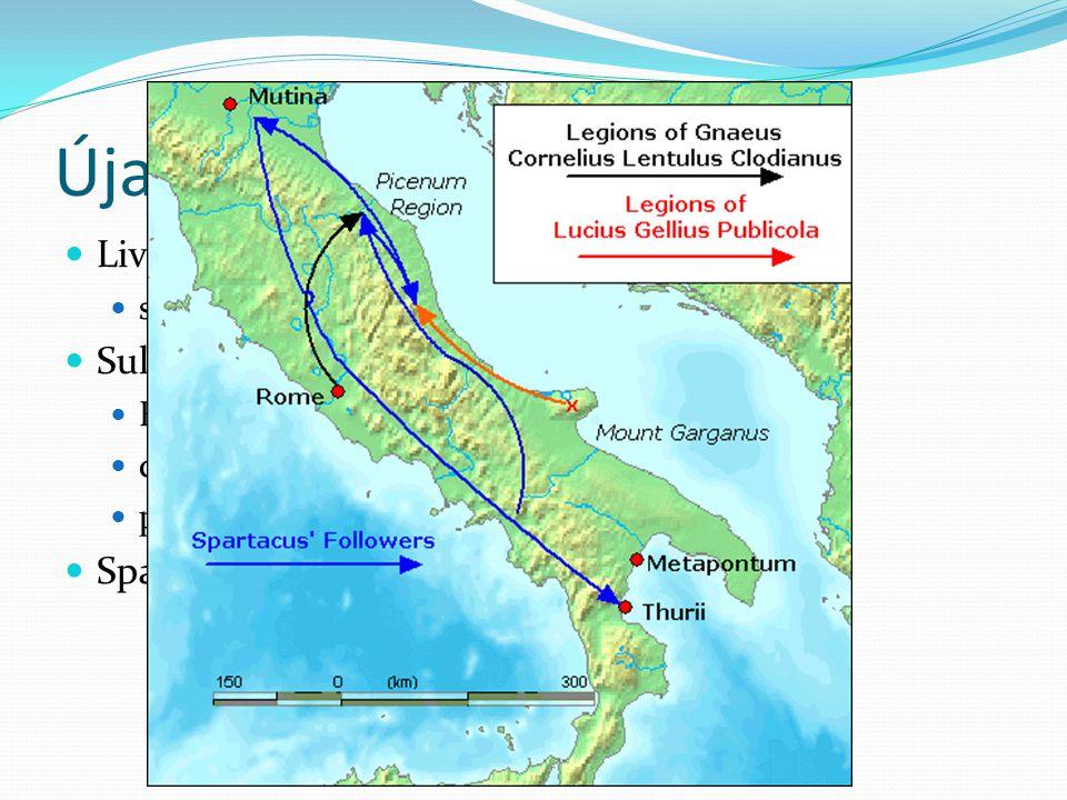 Újabb viszályok Livius Drusus szövetségesek háborúja Kr.e. 90-88. Sulla Kr.e. 82-79. Róma ellen vonul! dictator – néppártiak visszaszorítása postscrip