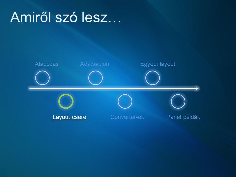 Saját layout vezérlő készítése