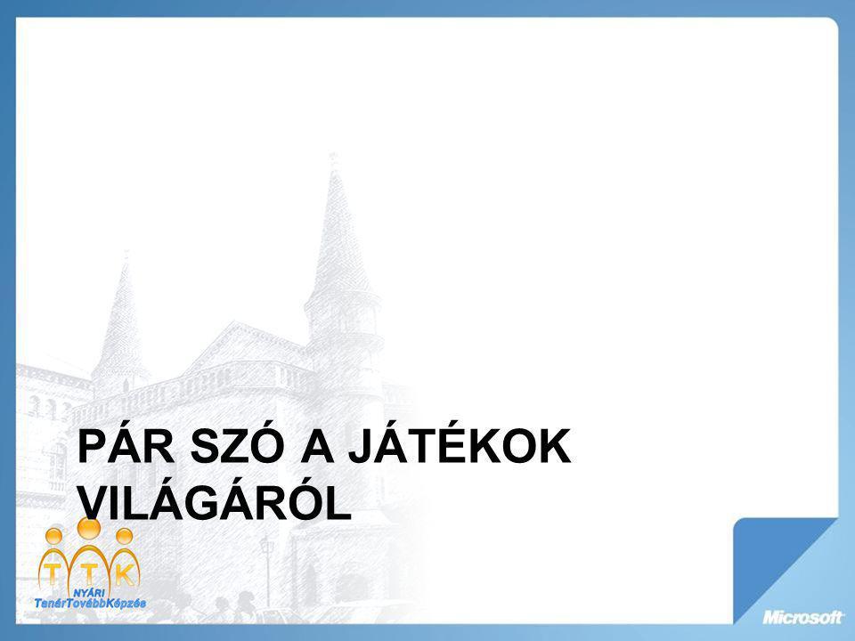 PÁR SZÓ A JÁTÉKOK VILÁGÁRÓL