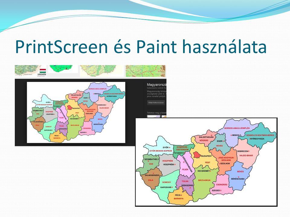 PrintScreen és Paint használata