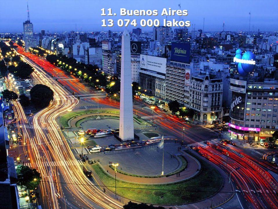 11. Buenos Aires 13 074 000 lakos 11. Buenos Aires 13 074 000 lakos