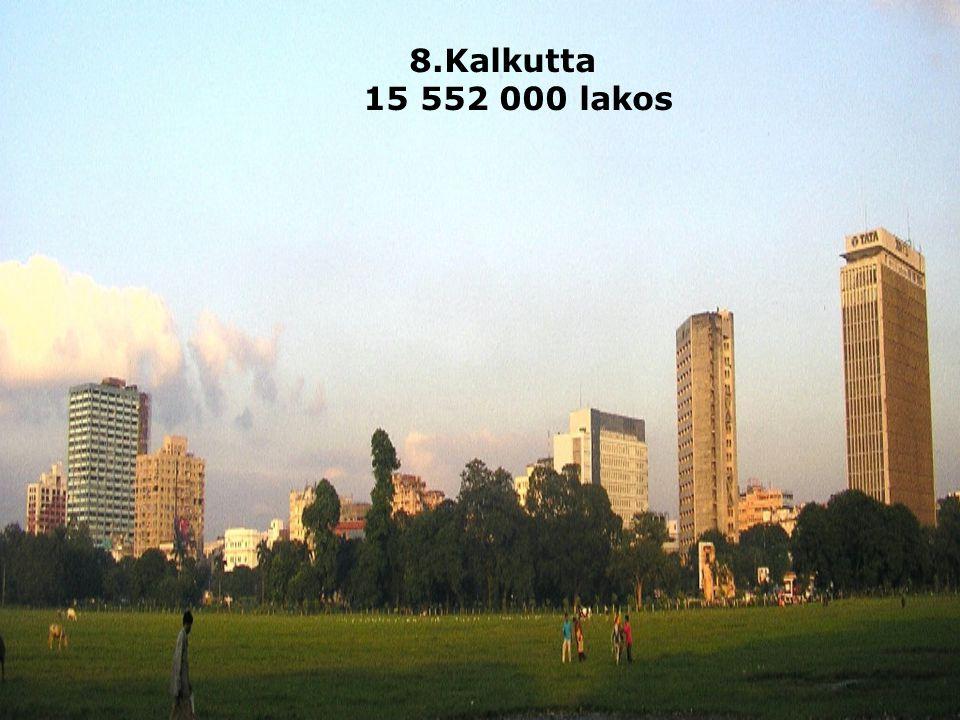 8.Kalkutta 15 552 000 lakos