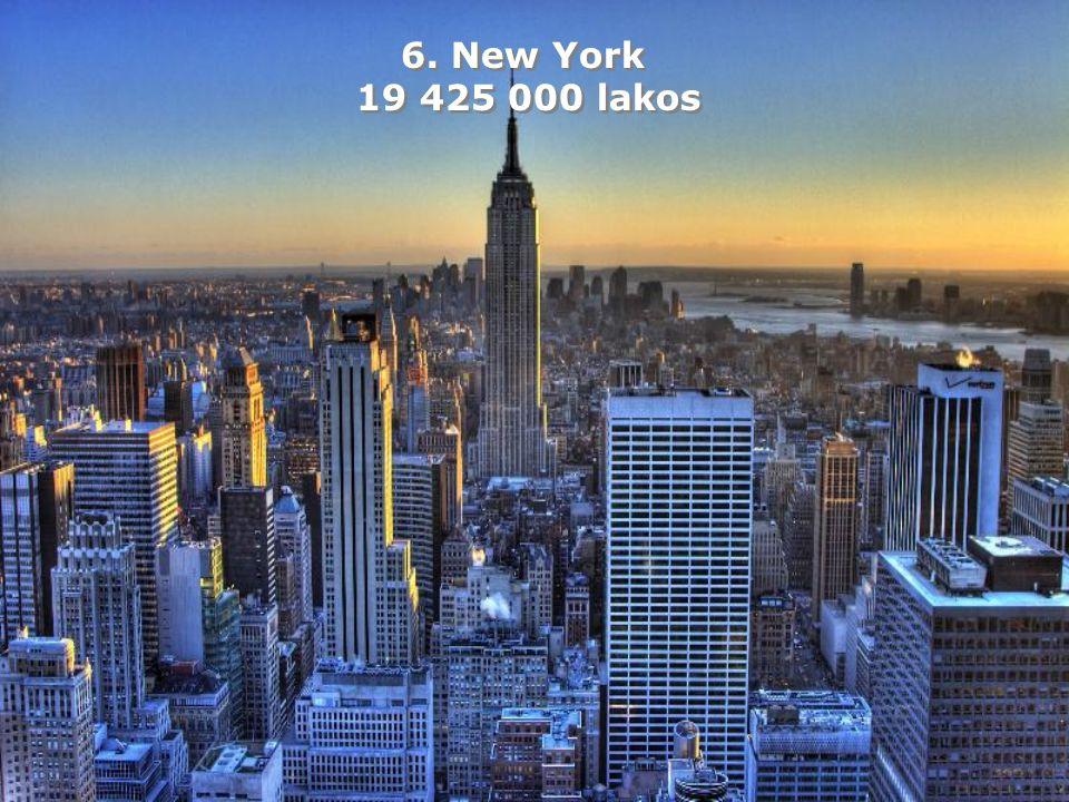 6. New York 19 425 000 lakos 6. New York 19 425 000 lakos